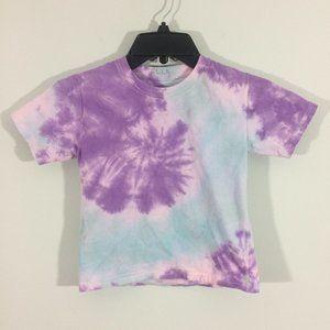 Hanes Girls S Purple & Blue Short Sleeve Tshirt